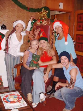 Season 5 Tribe cast at Christmas