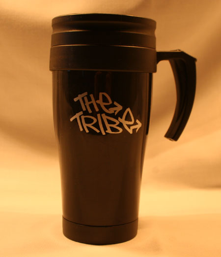 Tribe Thermal Travel Mug Front