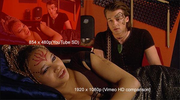 Vimeo size comparison